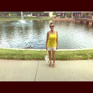 Tops - Bright yellow sleeveless top